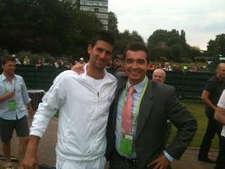 Novak Djokovic - Wimbledon Champion 2011. One of the world's greatest gentlemen. He became world number one with the victory.