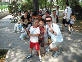 Hanging with the local kids in Beijing while reporting on the huge popularity of table tennis. If you haven't been to China yet - do it! What an incredible place with so much history and a fascinating culture.
