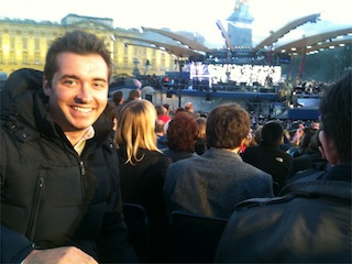 Covering Queen Elizabeth's Jubilee concert at Buckingham Palace. Brilliant night where Robbie Williams and Paul McCartney were standout performers.